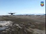 Argentinian Aircraft Performs A Very Low Pass In Sunny Anarctica