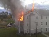 Apartment Fire Starts From Idiot Using Grill On Balcony