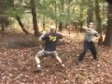 Amateur MMA Stick Fight In The Woods