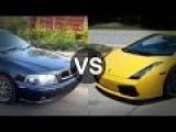 Autotech Volvo S40 T4 420HP Vs Lamborghini Gallardo LP520-4 E-Gear