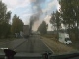 Accident Footage Of The Burned Alive. Death Cries Dash Cam Video