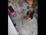 Asian Woman Beats A Toddler With A Wooden Rod Then Kicks Her To The Ground