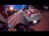 Aggressive Bikers Attack Car, Get Payback