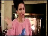 A Pretty In Pink MILF Talking SHIT By The Fireplace
