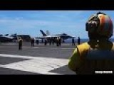 Amazing ONBOARD US Navy Aircraft Carrier Video Footage 60FPS - Takeoff