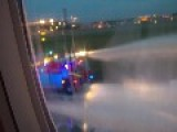 Airplane Engine Bursts Into Flames After Making Emergency Landing