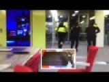 Amed Man Dutch TV-station - Broadcast View & Behind Police Action View!