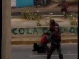 Another Angle Of The Beating Of A Young Student In Valera, Venezuela During Protest