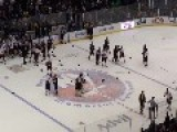 A Bench-Clearing Brawl At An FDNY Vs. NYPD Hockey Game
