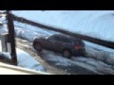 Angry Man Stuck In Snow