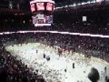 Annual Teddy Bear Toss For Charity. 25,214 Stuffed Animals Thrown Onto The Ice