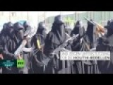 Armed Women In Yemen Demonstrate Saudi Attacks