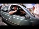 Angry Motorist Takes A Prat Fall