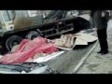 Accident Car Wedged