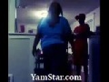 ANGRY BLACK MAN Bodyslams His FAT Girlfriend = As Daughter Watches =