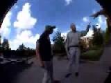 Angry Priest Versus Skate Boarders