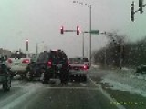 Accident In The Icy Illinois