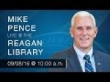 A Reagan Forum With Governor Mike Pence