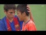 After Winning Match Barcelona Team Cheers Up Crying Tokyo Team