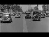 A Dashcam Footage Showing Classic Vehicles On The Street Of Beverly Hills, California In The 1930s