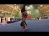 Amazing Gymnast Skills While Full Blown Pregnant With Twins