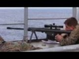 Anti-piracy Snipers Target Practice Against Boat
