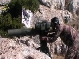 A Syrian Sunni Arab Tank Hunter Gets A Hit On Assad Regime ZSU-23-4, With A TOW ATGM
