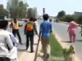 Angry Mullah Gets Into A Fight With Paramedics Trasporting A Patient In An Ambulance