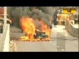 Audi R8 Goes Up In Flames At Mumbai Car Rally