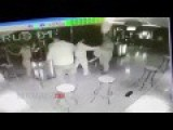 Angry Strippers Beat Up Shirtless Man With Chairs