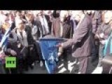 Anti NATO Protesters Burn EU And US Flags And Call For Alliance With Russia In Belgrade, Serbia