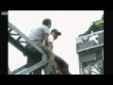 Angry Chinese Pushes Man From Crane Happy Ending Version