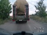 Alleged Disguised Бук System Transported In Russia