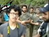 Asian-Reporter Converted To Islam And Prays With The Fighters