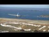 Airbus A340 Lands In Heavy Crosswinds
