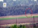 A Low-res View Of Palestinian Freedom Fighters Getting A Hit On A Zionist's Vehicle, With 9M133 ATGM: Occupied Palestine July 13th,