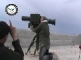 A Syrian Sunni Arab Tank Hunter Gets A Hit On Regime T-55 As The Crew Stand On It, With HJ-8 ATGM: