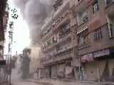 A Huge Plume Of Smoke Hangs Above A Residential Street After Another Assad Regime Terror Raid: Darayya Jan 25th, '14