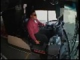 Accident Sends Bus Driver Flying Through Windshield