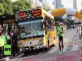 Argentina: Lightning Usain Bolt Strikes Faster Than A Speeding Bus