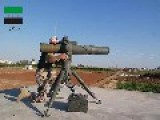 A Syrian Sunni Arab Tank Hunter Gets A Hit On Assad Regime T-55, With A TOW ATGM: Hama Governorate Sept 21st,