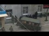 Armed Pro-Russian Militants Get Into Slovyansk Police Station Through Window