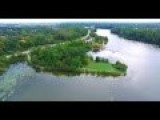 Arial 4K Ultra HD Footage Of Newberg Lake Of Michigan