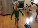 Aspiring Two-Year-Old Green Monkey Covers Himself In Paint
