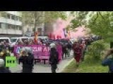 Activists In Germany March Against Anti-refugee Far-right