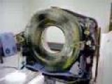A CT Scanner With Covers Off At Full Speed For 1 Minute