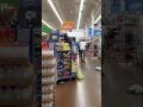 Angry Man Knocks Over Products At Walmart