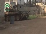 Awesome Hit Mujahideen Tank Vs. Assads Tank