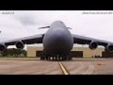 Army BIG FAT Aircraft C5 Galaxy SECRET Cargo Unloading - CODE 1079