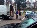 Angry Czech Goes Berserk On A Delivery Guy